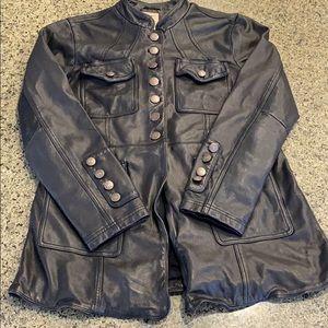 Free People Vintage Inspired Leather Jacket